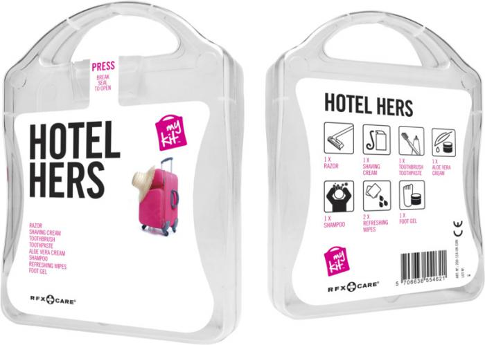 MyKit Hotel set dames transparant